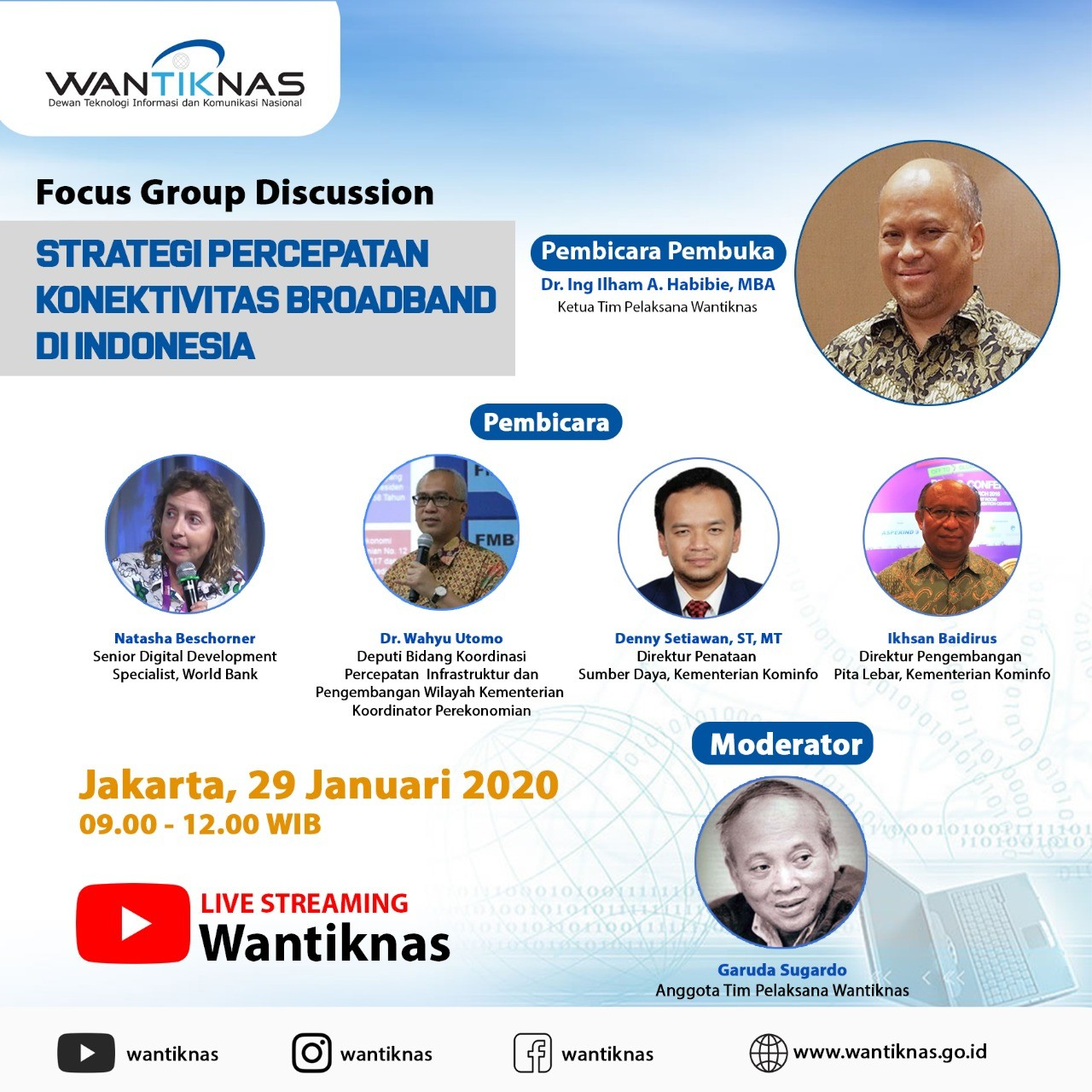 Focus Group Discussion (FGD) Strategi Percepatan Konektivitas Broadband di Indonesia