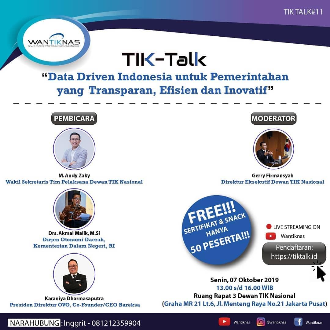 Data Driven Indonesia untuk Pemerintahan yang Transparan, Efisien dan Inovatif